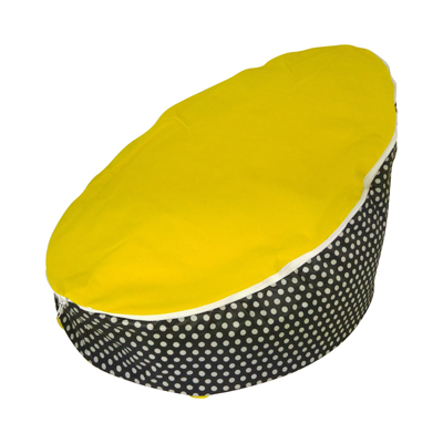 yellow top bean bag image