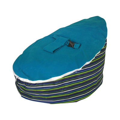 Ocean blue baby bean bag image