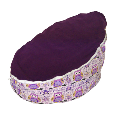 Hoot Hoot Grape Baby Bean Bag