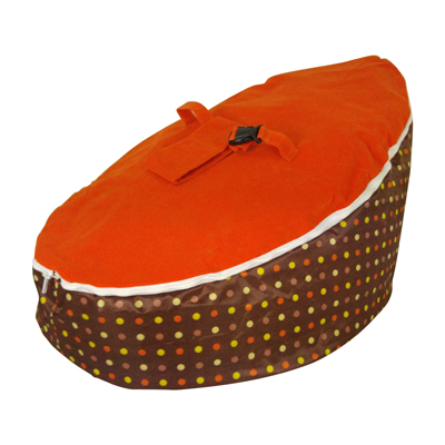orange top bean bag image
