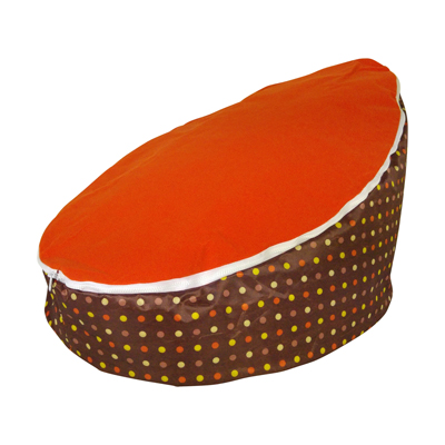 orange top baby bean bag image