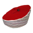 nautical red bean bag image