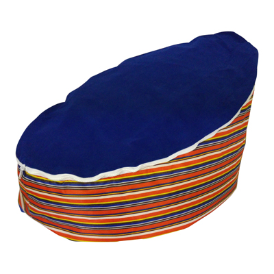 circus stripe baby bean bag image