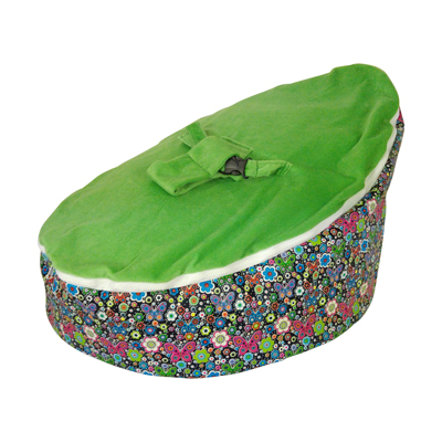 green butterfly bean bag image