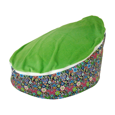 green butterfly baby bean bag image